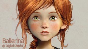 Ballerina L'Atelier Animation  lookdev assembly lighting render Guerilla Render