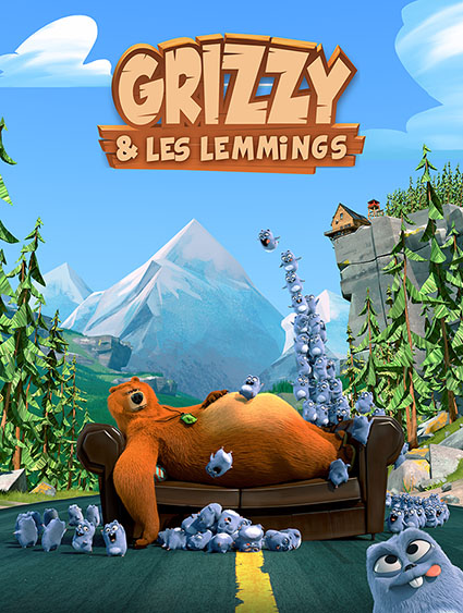 Grizzy and the Lemmings lookdev assembly lighting render Guerilla Render